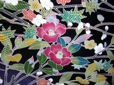金沢の伝統工芸、加賀友禅